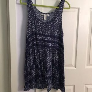 Navy dress with floral pattern